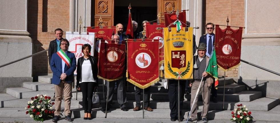 A Castiglione Tinella i donatori di sangue in festa.