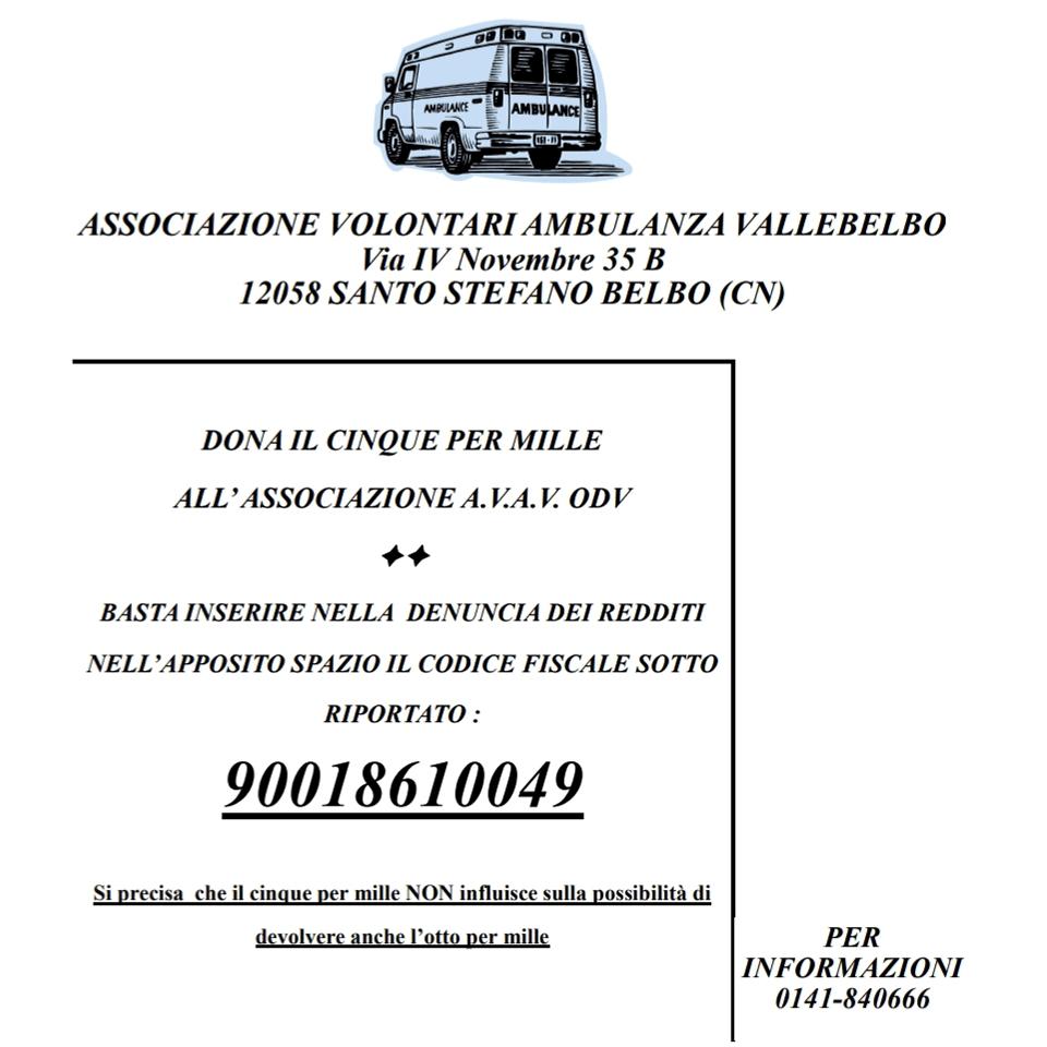 Associazione Volontari Ambulanza Vallebelbo.
