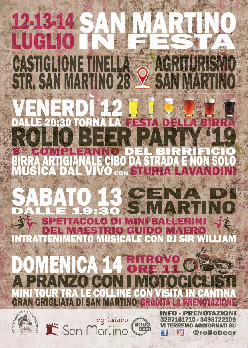 Programma Festa di San Martino 2019.